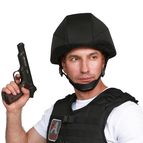 Бронешлем Страж-П на голове